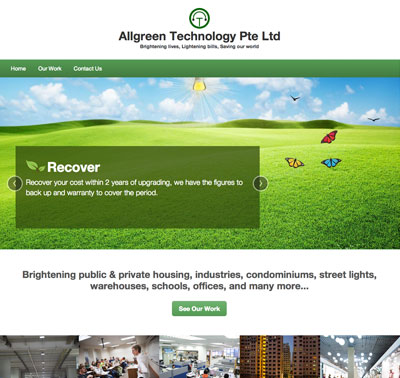 Allgreen Technology website designed by Redooor Studio