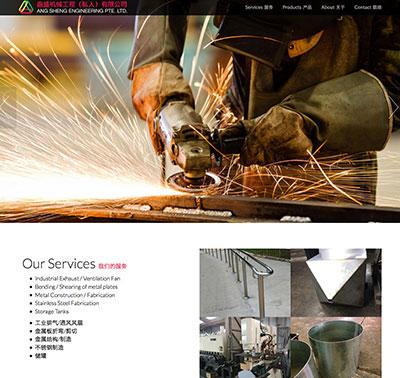 Ang Sheng Eng website by Redooor Studio