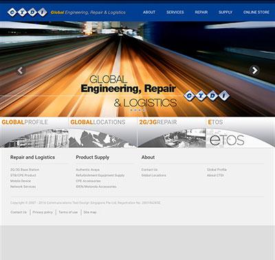 CTDI SG website designed by Redooor Studio