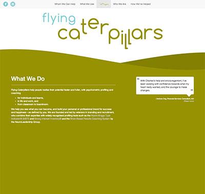 FlyingCaterpillars website designed by Redooor Studio