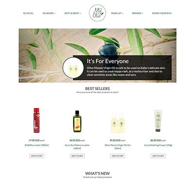 My Olive online store designed by Redooor Studio