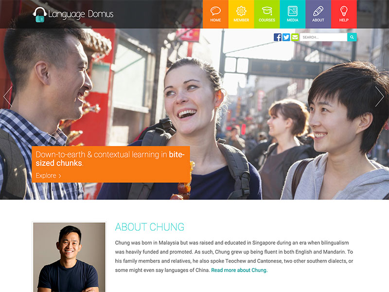 Language Domus Podcast Membership website designed by Redooor Studio